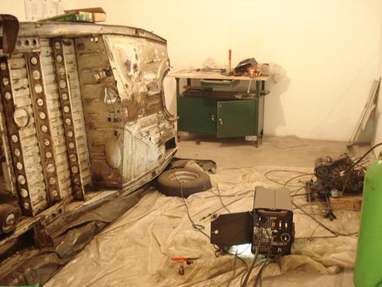 Die Garage beim Schweissen