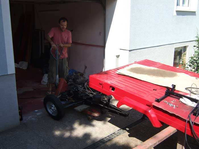 Aus der Garage